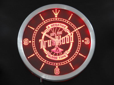 True Blood Neon Sign LED Wall Clock