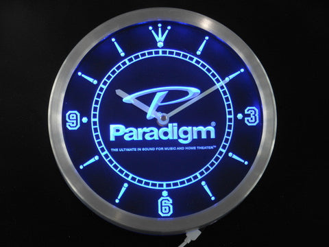Paradigm Speakers Home Theater Neon Sign LED Wall Clock