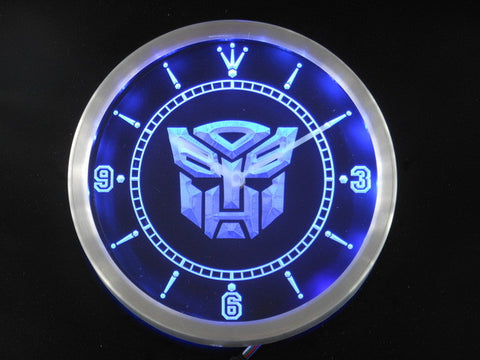Autobot Transformers Super Robot Neon Sign LED Wall Clock