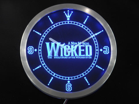 Wicked The Musical Bar Beer Neon Sign LED Wall Clock