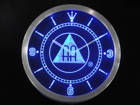 Alcoholics Anonymous AA Neon Sign LED Wall Clock