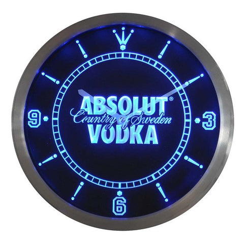 Absolut Vodka Neon Sign LED Wall Clock