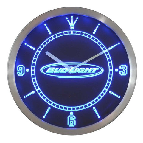 Bud Light Beer Neon Sign LED Wall Clock