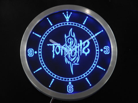 Slipknot Band Logo Rock n Roll Neon Sign LED Wall Clock