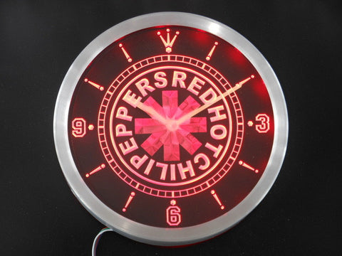 Red Hot Chili Peppers Rock Band Neon Sign LED Wall Clock