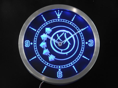 Blink 182 Punk Music Pub Bar Beer Neon Sign LED Wall Clock