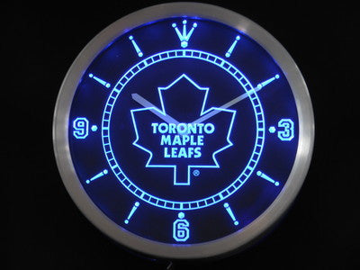 Toronto Maple Leafs Neon Sign LED Wall Clock