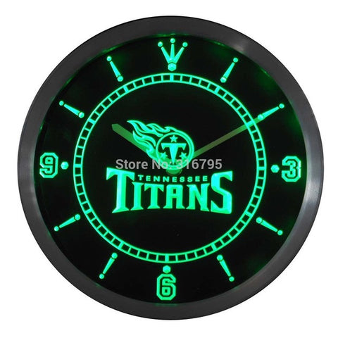 Tennessee Titans Neon Sign LED Wall Clock