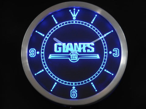 New York Giants Neon Sign LED Wall Clock
