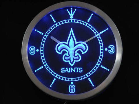 New Orleans Saints Neon Sign LED Wall Clock
