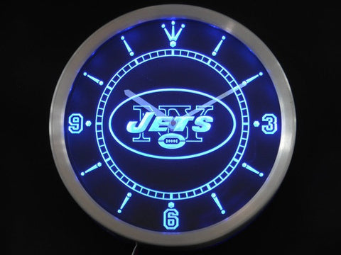 New York Jets Neon Sign LED Wall Clock