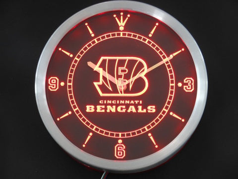 Cincinnati Bengals Neon Sign LED Wall Clock