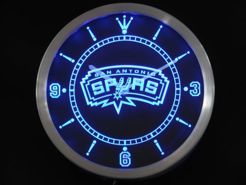 San Antonio Spurs Neon Sign LED Wall Clock