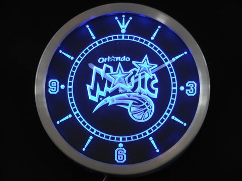 Orlando Magic Neon Sign LED Wall Clock