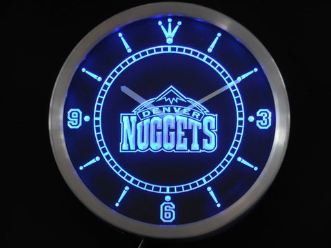 Denver Nuggets Neon Sign LED Wall Clock