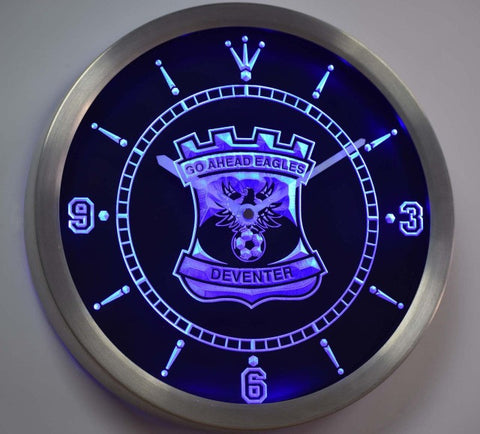 Go Ahead Eagles Eerste Divisie Netherlands Neon Sign LED Wall Clock