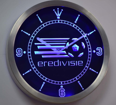Eredivisie Dutch Holland Netherlands Football Neon Sign LED Wall Clock