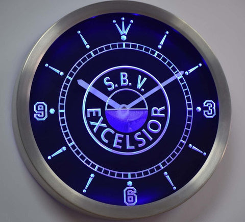 S.B.V. Excelsior Dutch Eredivisie Football Neon Sign LED Wall Clock