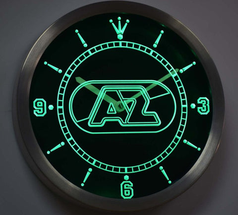 AZ Alkmaar Zaanstreek Eredivisie Neon Sign LED Wall Clock