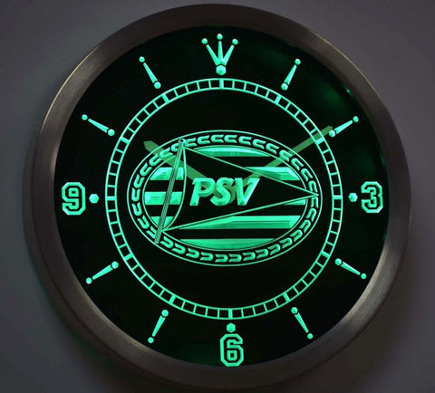 PSV Eindhoven Sport Vereniging Eredivisie Neon Sign LED Wall Clock