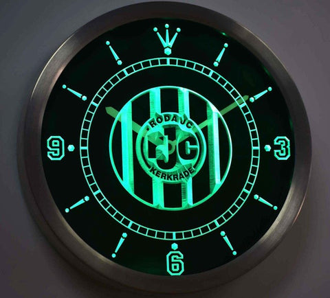 Roda JC Kerkrade Sportvereniging Roda Juliana Combinatie Kerkrade Eredivisie Neon Sign LED Wall Clock