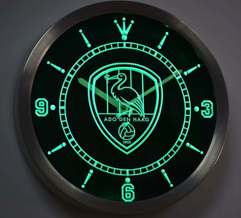 ADO Den Haag Eredivisie Neon Sign LED Wall Clock