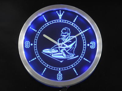 DJ Disc Jockey Disco Music Bar Beer Neon Sign LED Wall Clock