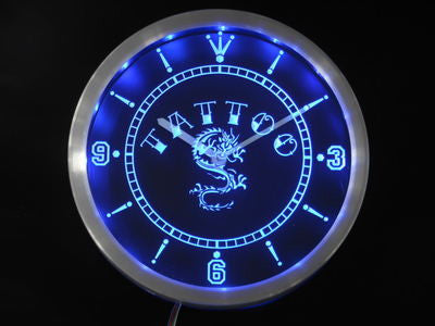 Tattoo Chinese Dragon Ink Bar Beer Neon Sign LED Wall Clock