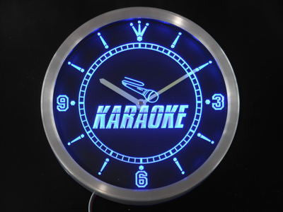 Karaoke Room Display Neon Sign LED Wall Clock