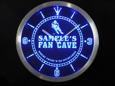 Name Personalized Custom Hockey Fan Cave Bar Beer Neon Sign LED Clock