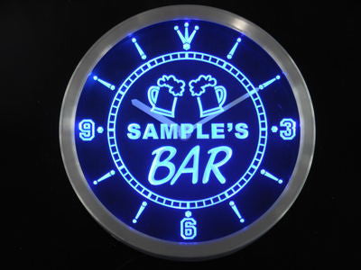 Beer Mug Bar Personalized Your Name Pub Sign Neon Led Clock