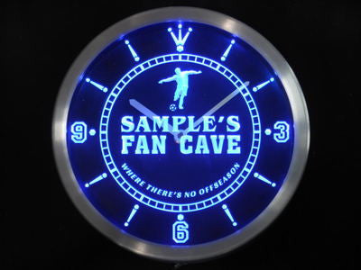 Name Personalized Custom Soccer Football Fan Cave Neon Sign LED Clock