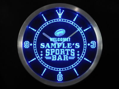 Name Personalized Custom Sports Bar Beer Pub Neon Sign LED Clock