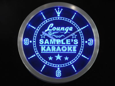 Karaoke Lounge Room Personalized Your Name Bar Beer Sign Neon Led Clock