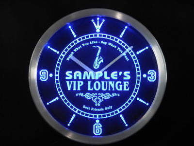 Name Personalized Custom VIP Lounge Best Friend Only Neon Sign LED Clock