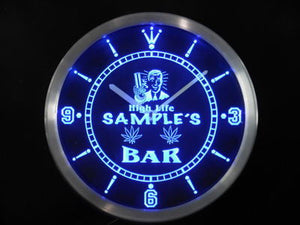 Name Personalized Custom High Life Bar Neon Sign LED Clock