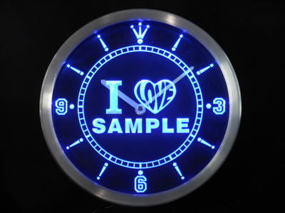Personalized Custom I Love Series Neon Sign Neon Sign LED Clock