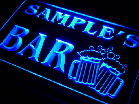 Name Personalized Custom Home Bar Beer Mugs Cheers Neon Sign