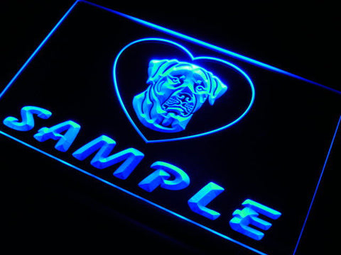 Name Personalized Custom Rottweiler Dog House Home Neon Sign