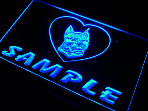 Name Personalized Custom Pit Bull Dog House Home Neon Sign