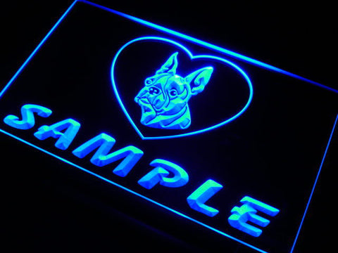 Name Personalized Custom Boston Terrier Dog House Home Neon Sign