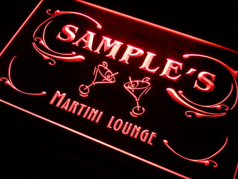 Name Personalized Custom Martini Lounge Cocktails Bar Wine Neon Light Sign