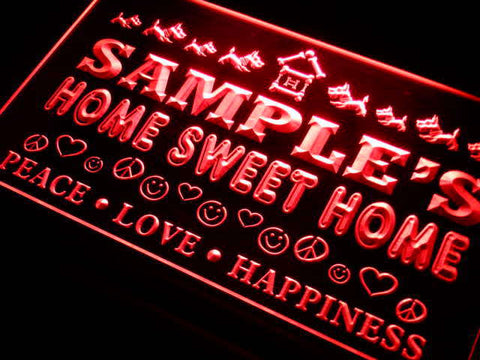 Name Personalized Custom Home Sweet Home Scottie Peace Love Neon Sign