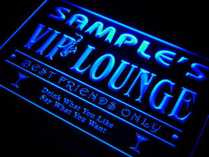 Name Personalized Custom VIP Lounge Best Friends Only Bar Beer Neon Sign