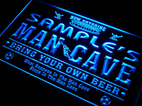 Name Personalized Custom Man Cave Soccer Bar Beer Neon Sign