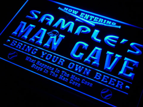 Name Personalized Custom Man Cave Baseball Bar Beer Neon Sign