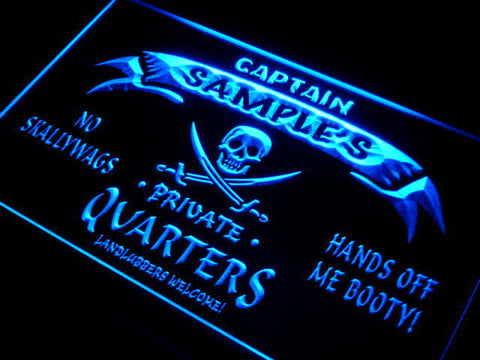 Name Personalized Custom Private Quarters Pirate Man Cave Neon Sign