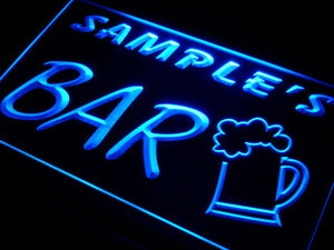 Name Personalized Custom Home Brew Bar Beer Mug Glass Neon Light Sign