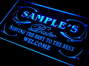 Name Personalized Custom Best Bistro Custom Neon Light Sign