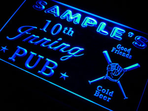 Name Personalized Custom Baseball Inning Bar Beer Neon Sign